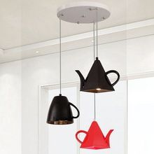 LukLoy Lâmpada Cozinha Moderna, resina Pingente de Bule de Chá Xícara de Cozinha Luzes de Sombra para Casa Cozinha Decoração da Sala de Jantar E27(China (Mainland))