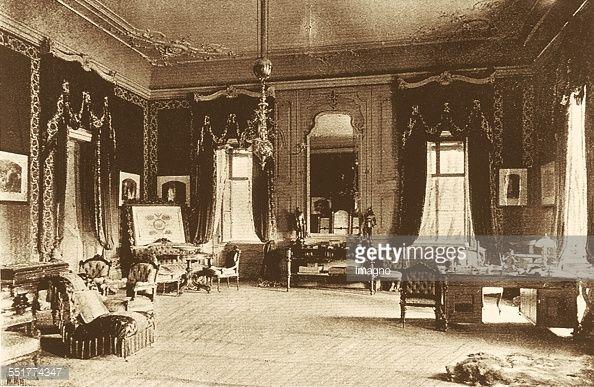 Study of Emperor Franz Joseph I. in Gödöllö Castle. 1896. Photograph. (Photo by Imagno/Getty Images).