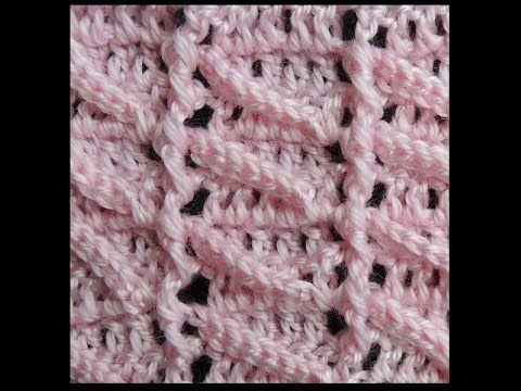getlinkyoutube.com-Crochet :Punto en Relieve # 4