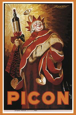 PICON vintage AD poster ACHILLE mauzan FRANCE 1934 hot NEW prized RARE