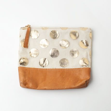 Gold Dotted Clutch