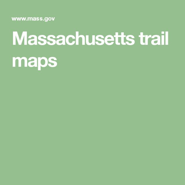 Massachusetts trail maps
