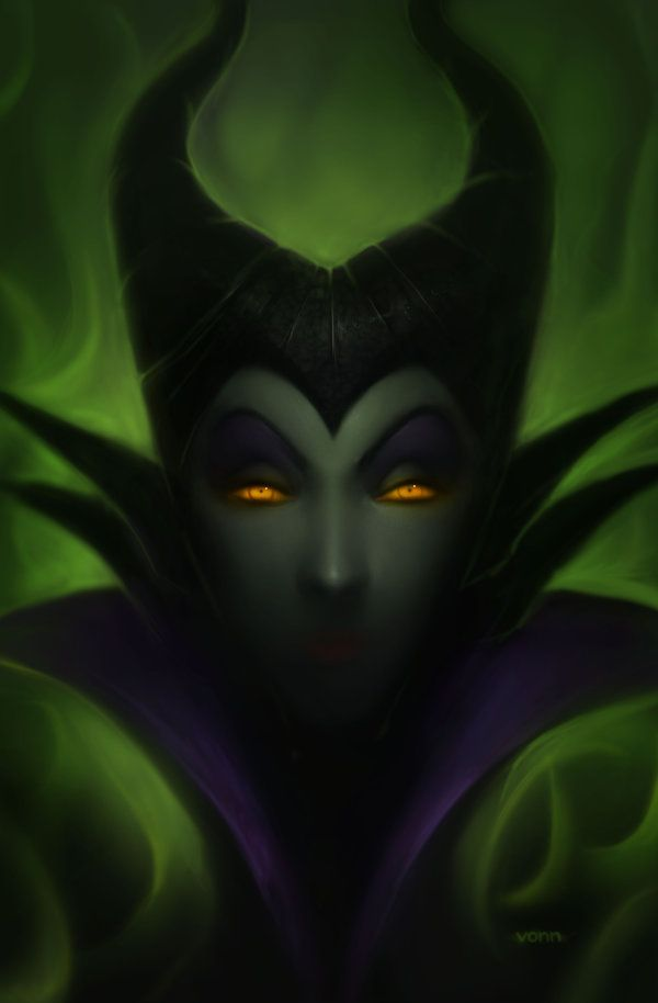 by tvonn9 on DeviantART. Maleficent, Disney, fan art, villains