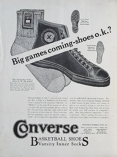 Vintage Converse Advertisement, Fashion Flashback: All Stars