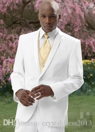 Custom Made Generous White And Gold Vest Tie Groom Tuxedos Groomsmen Best Man Suit Mens Wedding Suits Jacket+Pants+Tie+Vest Mens Suits Wedding Mens Wedding Clothes From Crystaldress2013, $75.56| Dhgate.Com