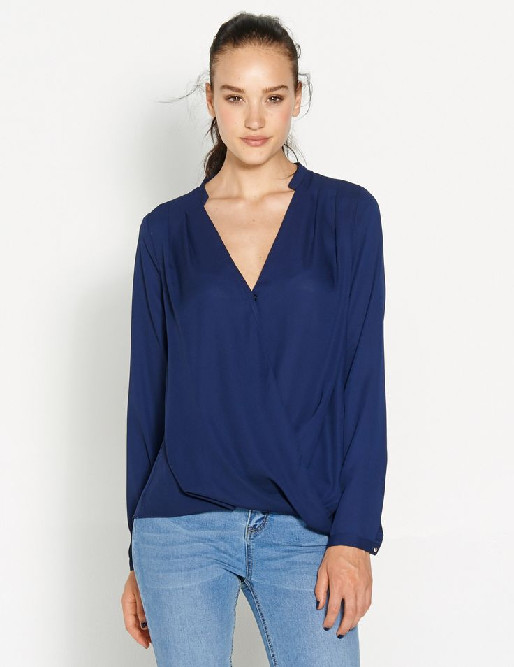 Image for Chiffon Crossover Blouse from Dotti