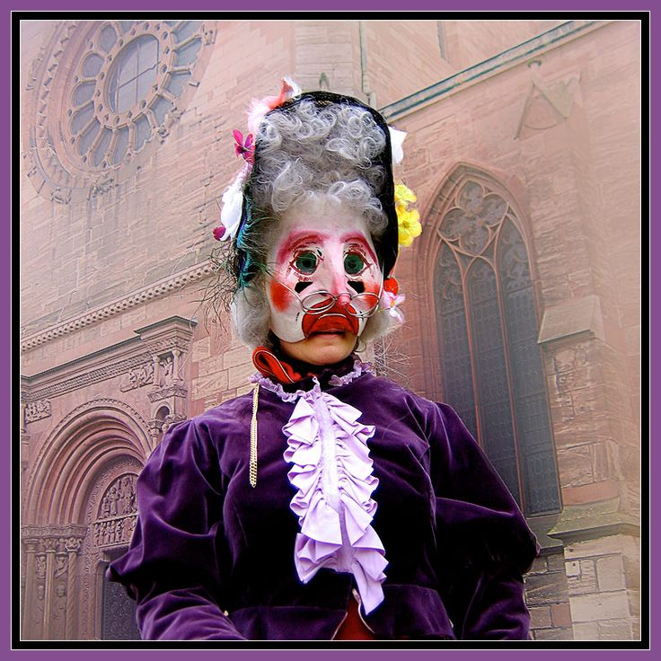 """Carnival Basel ~ This is what Swiss call """"Alti Tante"""" (old aunt) - Basel, Switzerland"""