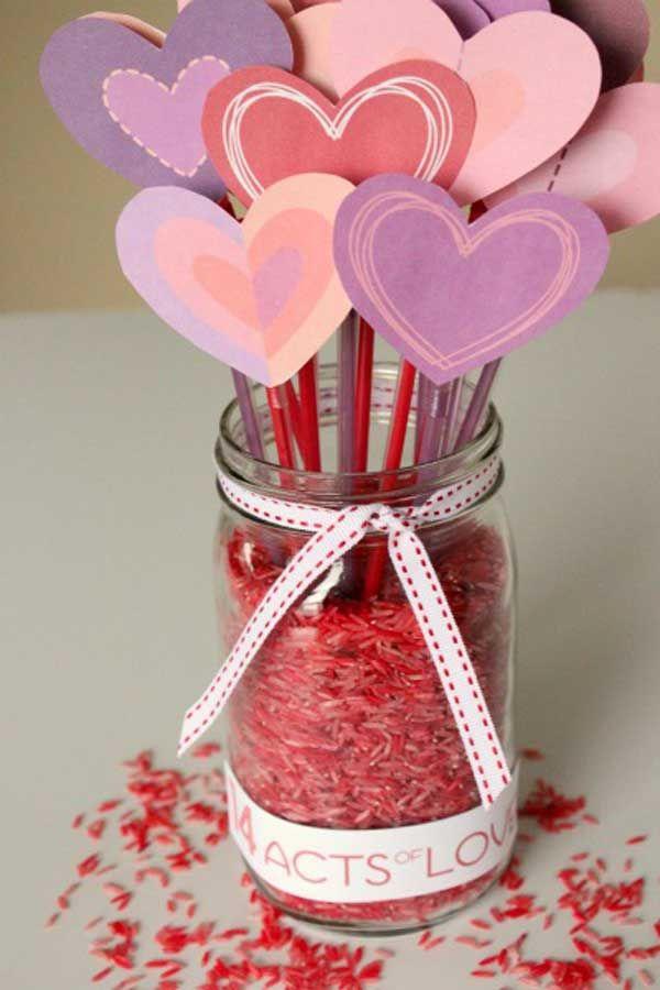 Поделки с детьми на день Святого Валентина