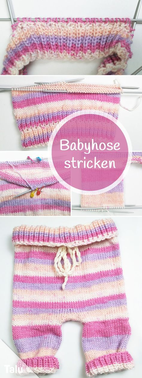 Babyhose stricken – kostenlose Anleitung für Anfänger in allen Größen