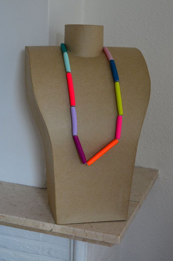 Neon necklace/funky jewelry/African necklace/modern by IKKX