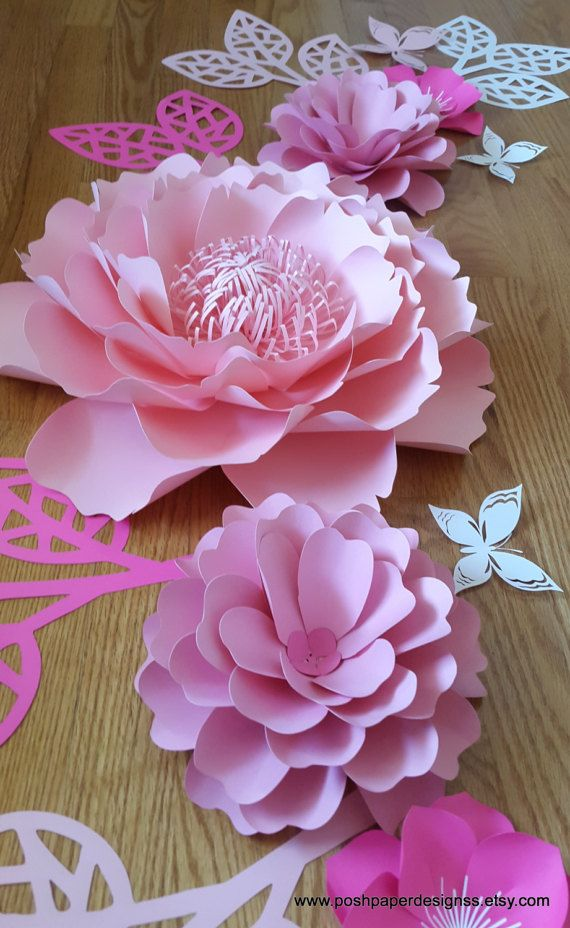 Las 25 mejores ideas sobre flores grandes de papel en for Papel de decoracion para paredes