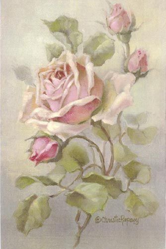 Christie Repasy Pink Delight Roses Canvas Print 8 x 12