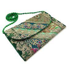 Vintage Style Indian Bag Multicolor Clutch Handbag Hand Beaded Wedding Purse