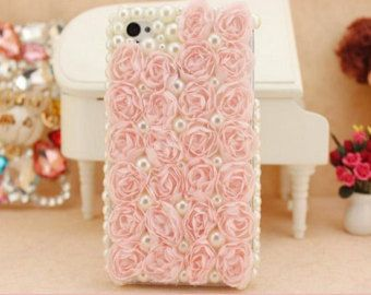 Romantic lace flowers iphone 6 6plus case bling pearl samsung note 3 4 case huawei p6 p7 htc one m7 m8 LG G2 G3 Huawei p6 p7 case