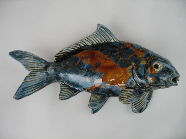 Alan And Rosemary Clay Fish Pottery Animal Fish