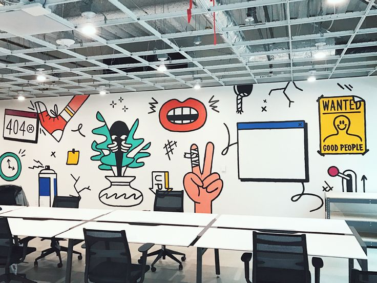 Intercom's SF office is expanding so I took the opportunity to get away from my screen for a couple days and paint a mural in the new space. Had a lot of fun but was reminded how taxing painting is...