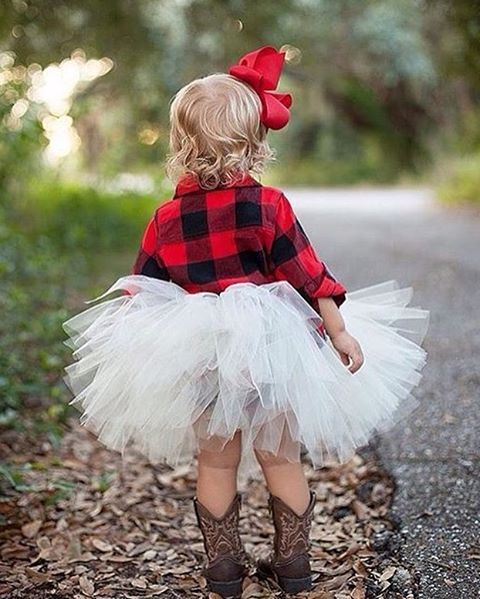 buffalo plaid + tutu.