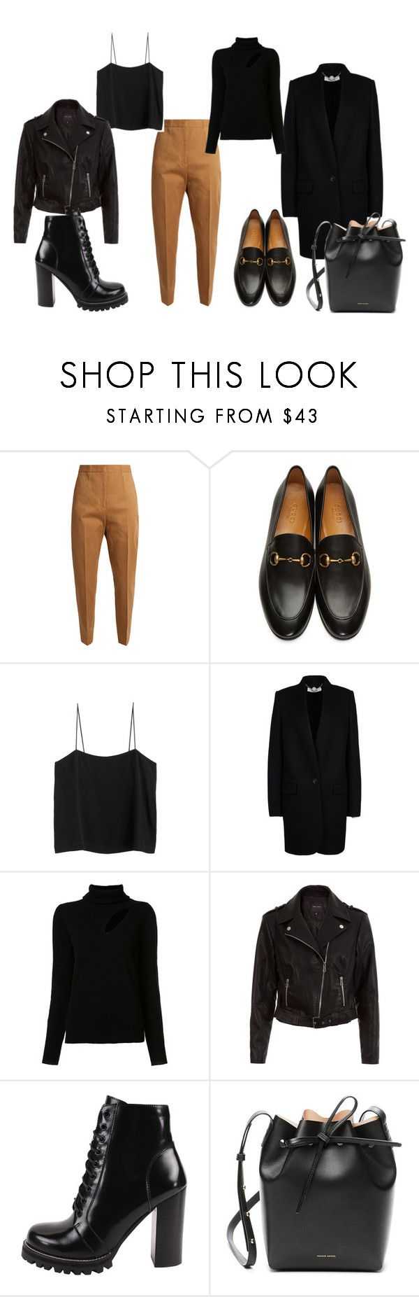 """N"" by alena-mendesh on Polyvore featuring мода, Jil Sander, Gucci, STELLA McCARTNEY, A.L.C., New Look, Jeffrey Campbell и Mansur Gavriel"