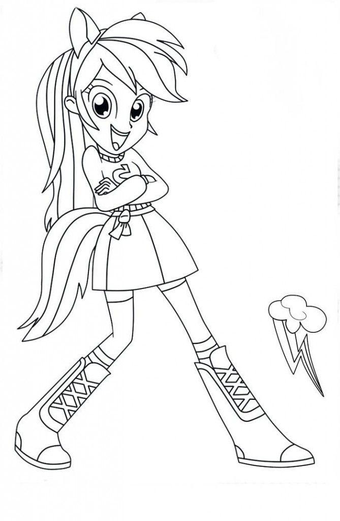 My Little Pony Equestria Girls Para Pintar E Imprimir Desenhos