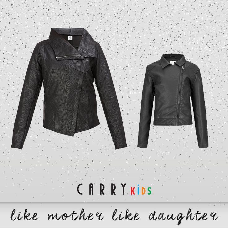 Ramoneska dla mamy i córki, czy może istnieć bardziej modny duet? :) #autumn #outfit #fashion