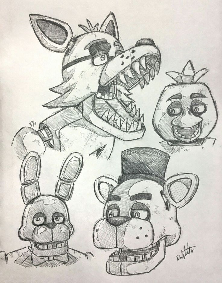 I love you foxy♥ Fnaf drawings, Fnaf coloring pages