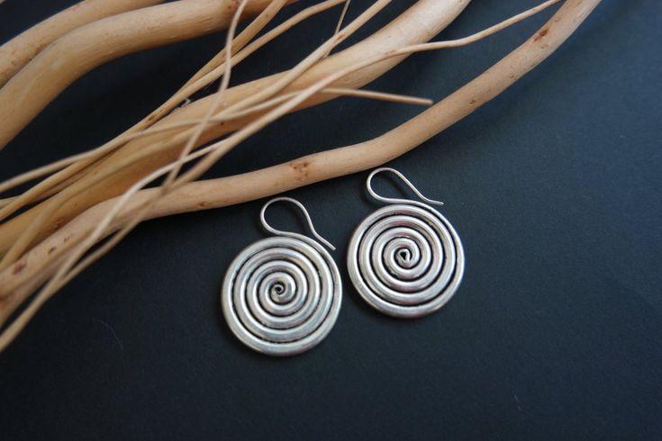 Miao silver funky tribal earrings