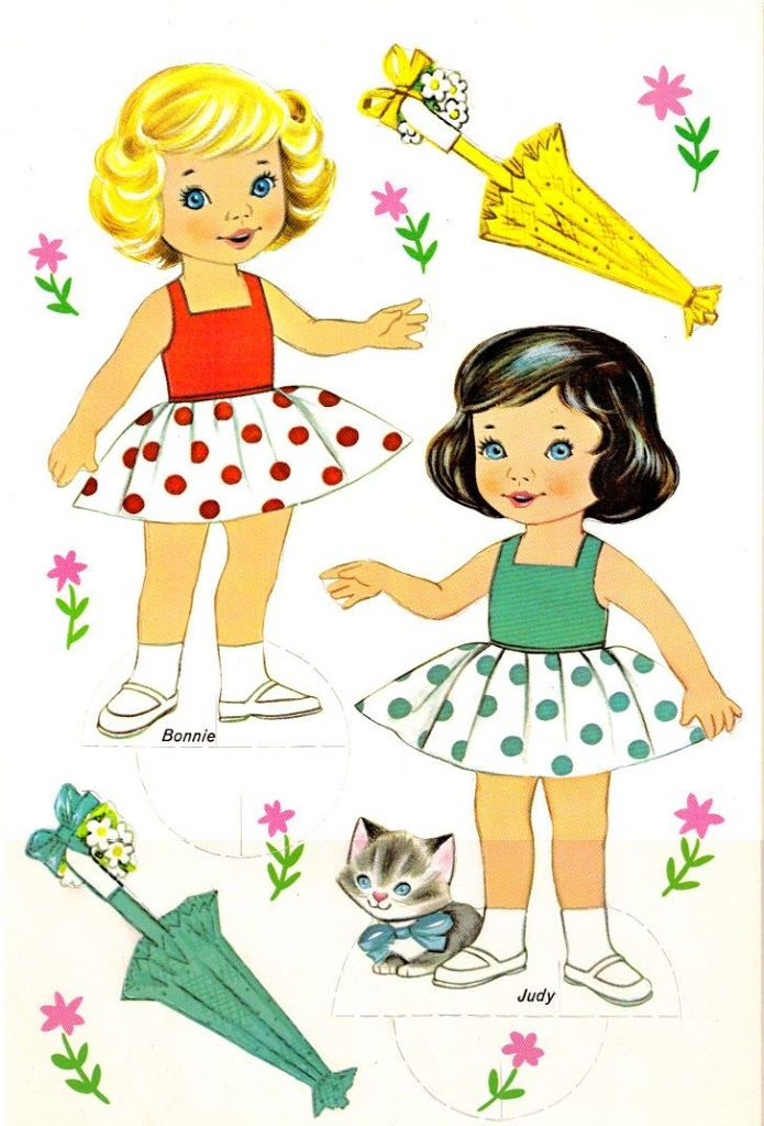 Muñecas recortables (Sara y Mara)