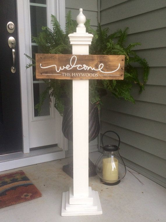 Personalized Welcome Sign with Family Name by SignsfromthePines