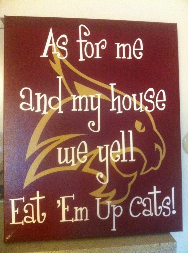 Always and forever a BOBCAT!    www.solartdesigns.com. Texas State Bobcats. Eat em up Cats.