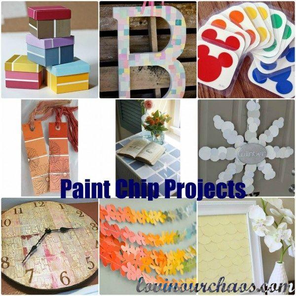 paint chip projects ideas diy ideas pinterest. Black Bedroom Furniture Sets. Home Design Ideas