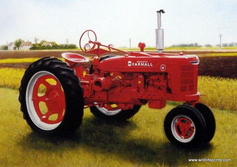 Charles Freitag Picture of Farmall Tractor