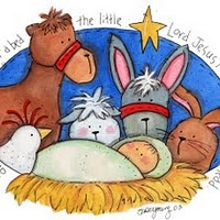 "I love this whimsical illustration of ""Away In The Manger""  <3"