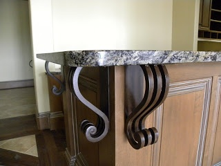 URBAN IRONCRAFT: Iron Corbels / Counter Top Supports / Iron Brackets