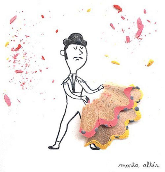 Super Creative Pencil Shaving Art via @Sherri Levek Long Things