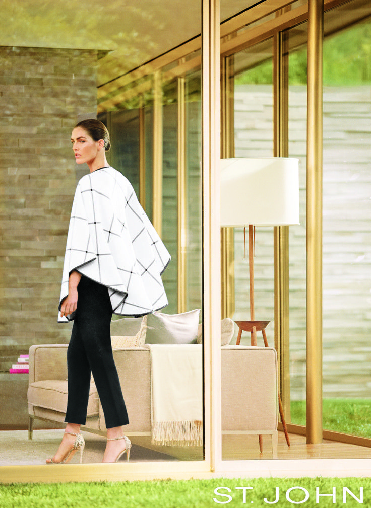 Blanket Statement: For a chic look of luxury, throw a cape coat over everything from classic black pants to jeans. This cream knit cape features leather trim for a downtown edge.