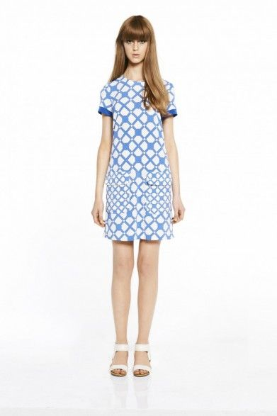 collette by Collette Dinnigan Peggy Sue Jersey Short Sleeve Dress with Pockets