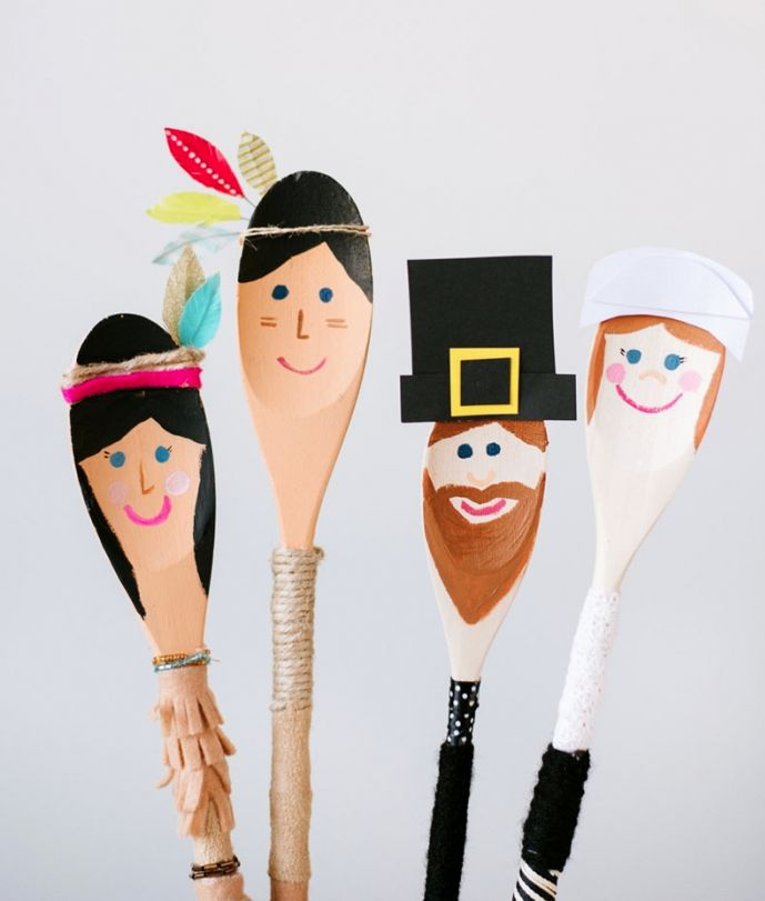Pilgrims and Indians @AmandaRydell of Be Crafty — mini style