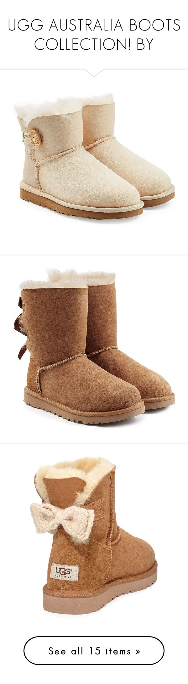 """""""UGG AUSTRALIA BOOTS COLLECTION! BY"""" by itgirlcarlota ❤ liked on Polyvore featuring uggboots, shoes, boots, ugg, botas, rose, knit boots, rose boots, sheep shoes and ugg australia"""