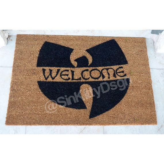 Wu Tang inspired Door Mat / Wu Tang Clan / Hip Hop by SinKittyDsgn