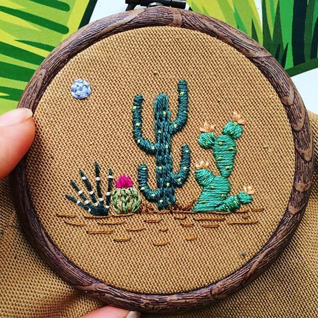 Love this embroidery by @baobaphandmade . www.shopbonemachine.com…