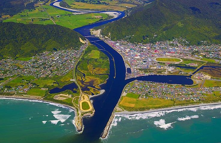 Greymouth, at the mouth of the Grey River, see more, learn more, at New Zealand Journeys app for iPad www.gopix.co.nz