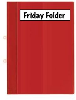 Teach Two Reach 2nd Grade Happenings: Organize with Friday Folders