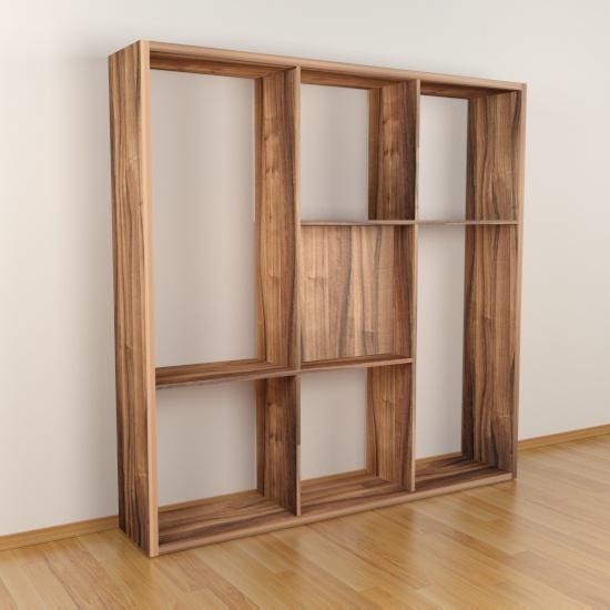 Modelo Jelka. Creativa y dinámica. Una estantería de gran calidad, con un diseño práctico, moderno y original. Ideal como biblioteca y como separador de ambientes. Realizada en gruesos de 16 y 30 mm.