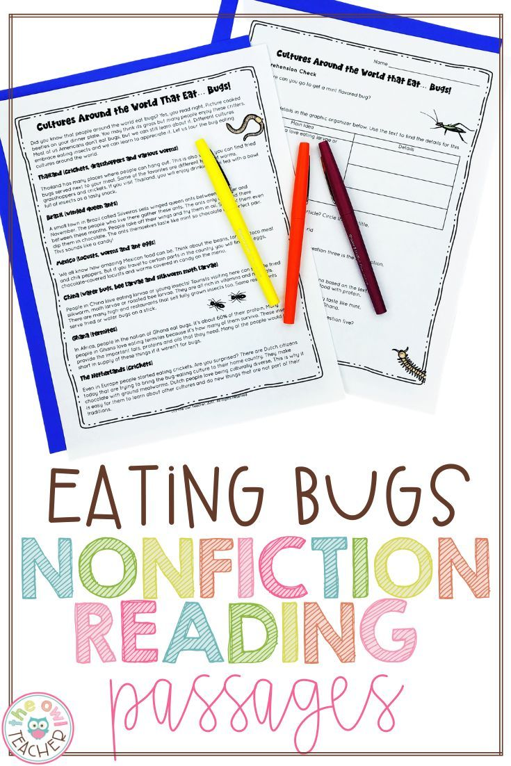 - Distance Learning Eating Bugs Nonfiction Reading Passages