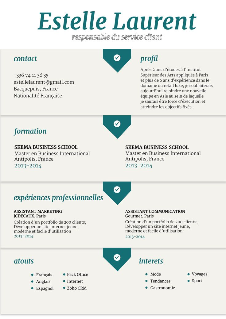 37 best CV Modernes images on Pinterest Curriculum, Resume and - groupon resume