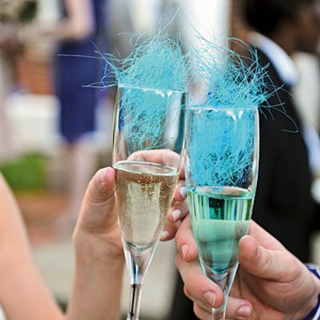 This champagne and cotton candy combination has celebration written all over it.
