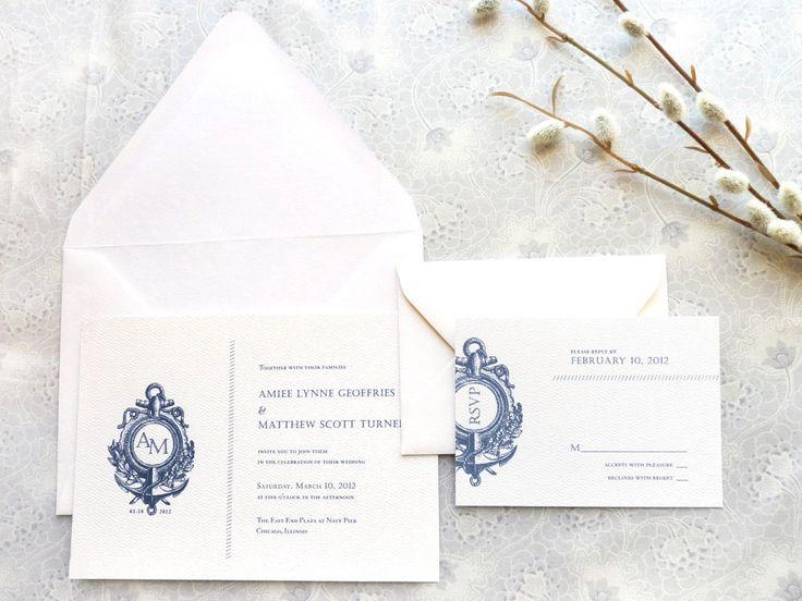 Anchor Nautical Wedding Invitations  Anchor Wedding  by merrymint
