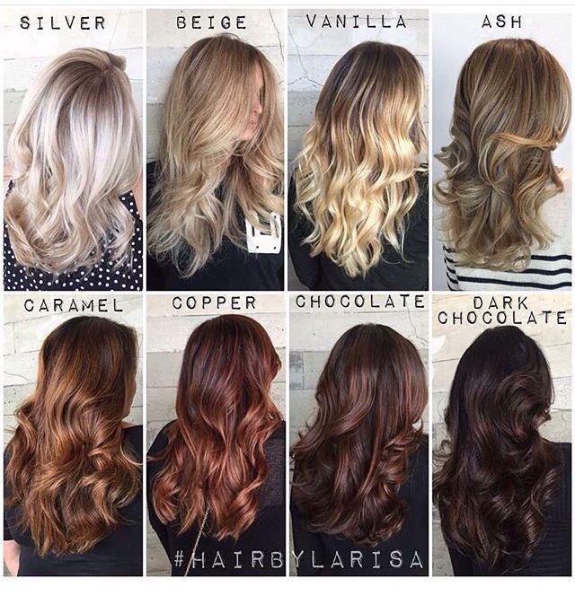 Blonde to brunette shades