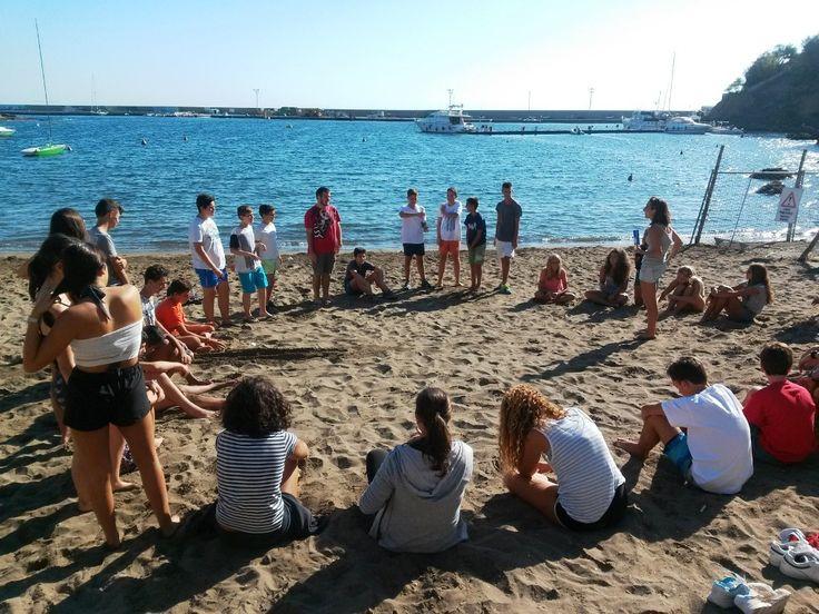 Attività in spiaggia. #LNV2015 #camposcuola