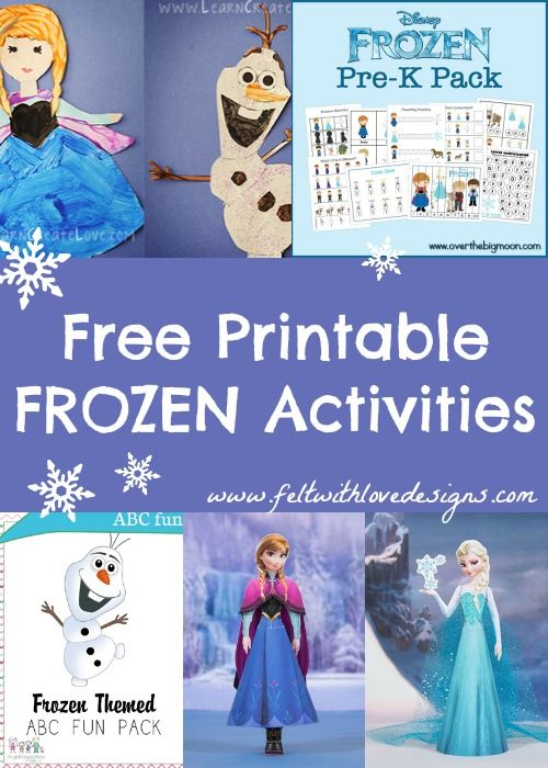 Links With Love: Free Frozen Printable Crafts and Activities {Felt With Love Designs}